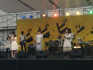 まずは7日前夜祭からマンガコースバンド「こみっ娘」!