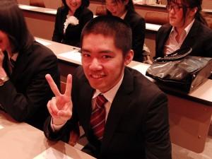 卒業生代表はマンガコース野田君!