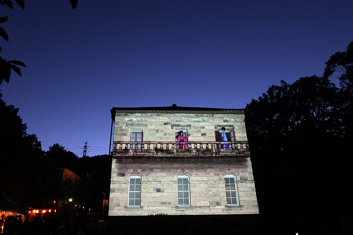 2012年 宵の明治村プロジェクションマッピング写真
